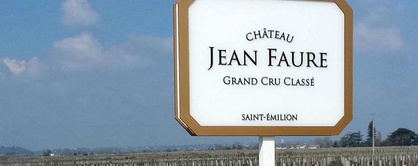 BMJ-publicité Château Jean Faure signalétique