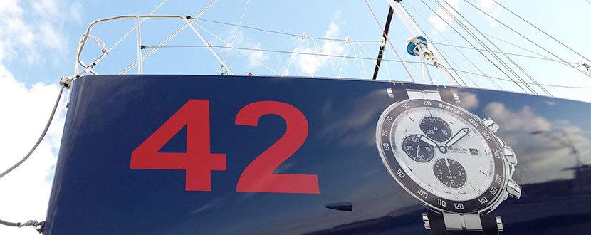 BMJ détail décoration avant voilier Class 40 Michel Herbelin