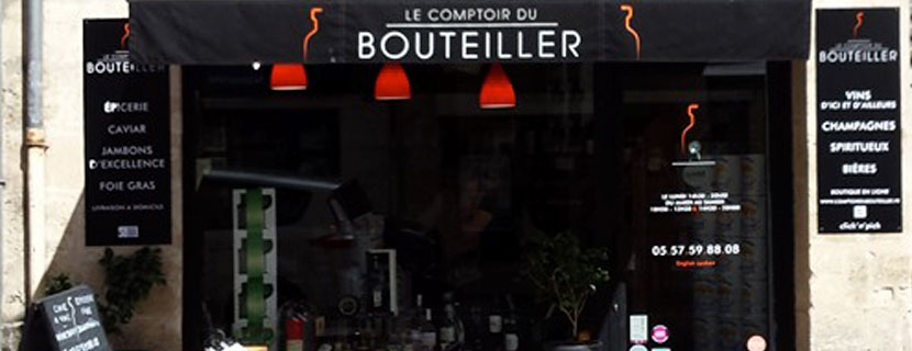 BMJ-publicité Vitrine Le comptoire du Bouteiller