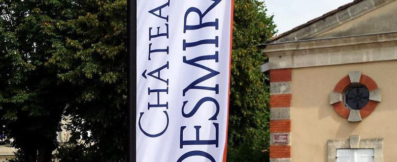 BMJ-publicité Château Desmirail drapeau détail